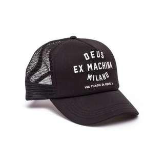 RICKS CAP / HAT / TOPI TRUCKER CUSTOME DEUS EX MACHINA MILANO 2.4 /BLACK