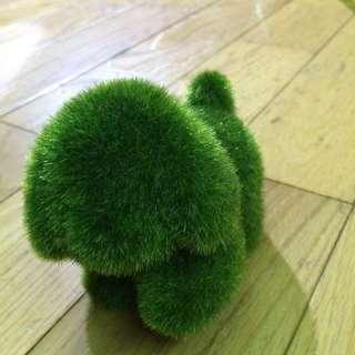 療癒狗狗擺飾 裝飾 草地質感
