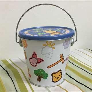正版小熊維尼系列鐵罐
