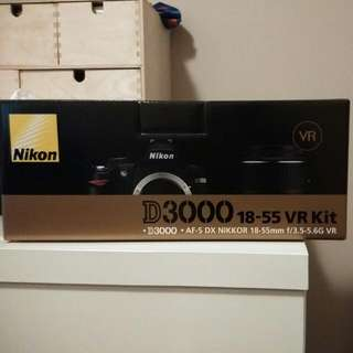 National Day Offer: As Good As New Nikon D3000 18-55 VR kit