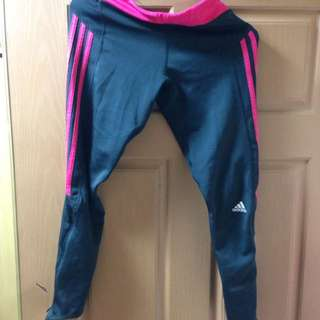 Adidas 愛迪達 長緊身褲 路跑褲