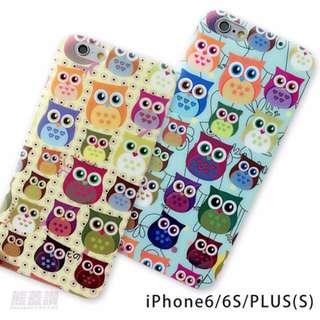 可愛 貓頭鷹 圖案 手機殼 保護殼 軟殼 四邊全包邊 iPhone6 6S 6PLUS PLUS 另售鋼化貼$99