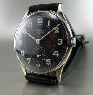 Girard Perregaux - Vintage Watch, Black Military Dial
