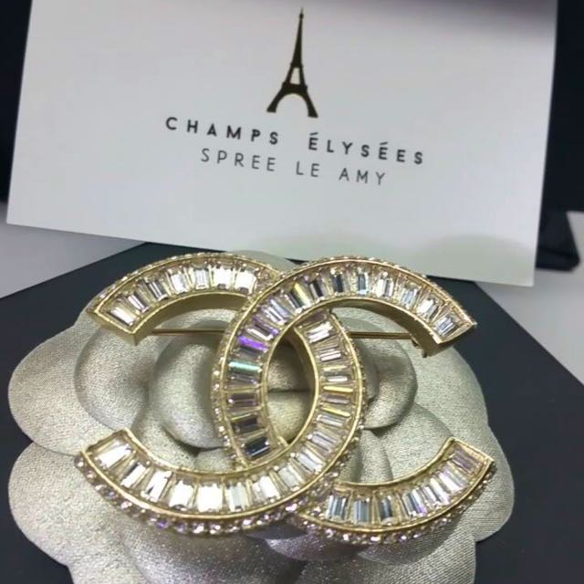 accessories diamond product image chanel channel brooch fashion gold of love