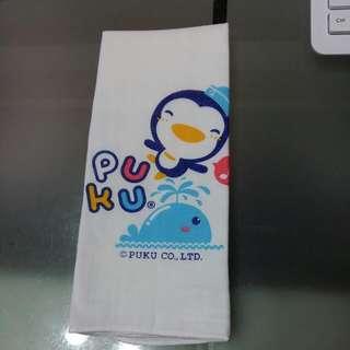 30×45cm全新藍色企鵝紗布巾