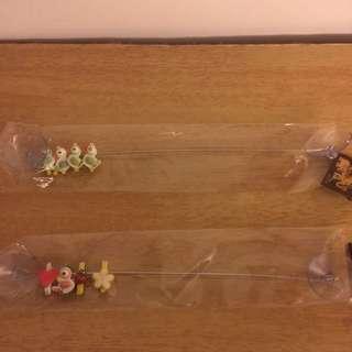 全新 超可愛吸盤式Memo夾,附有小夾4組。共兩款式。購於泰國。兩款一起買140元