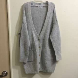 🌾mooncat 柔軟針織長版外套 大衣