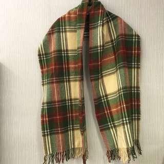 格紋披巾圍巾