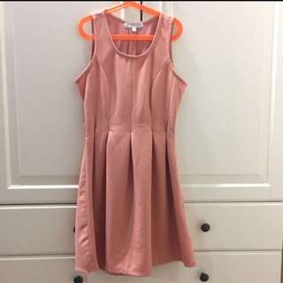 Salmon pink Sleeveless dress