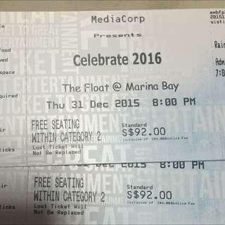 2016 Countdown Tickets