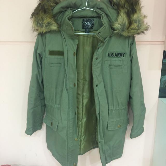 50%軍綠厚外套