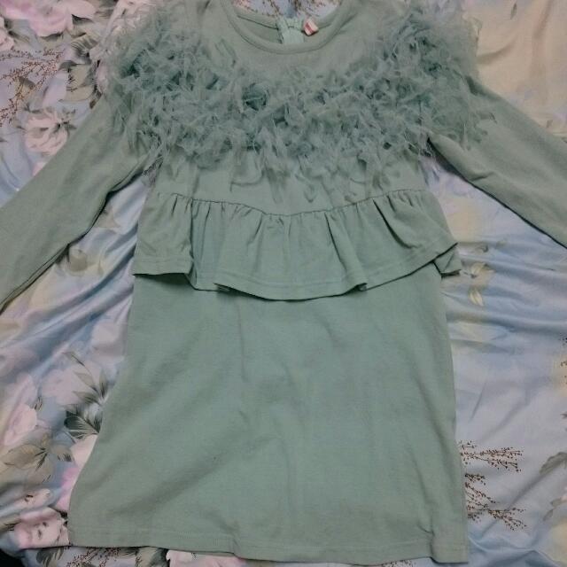 韓版湖水綠小洋裝 11號