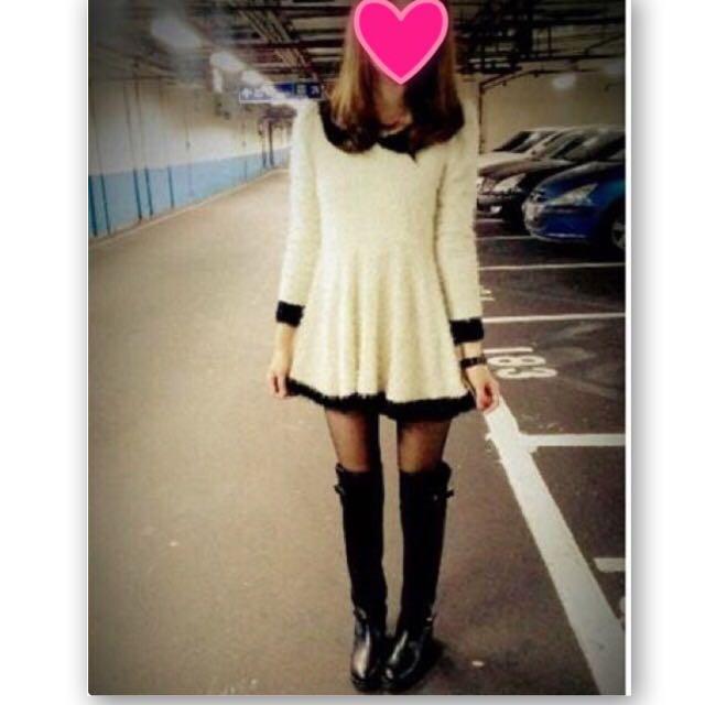 香奈兒小香風氣質金蔥傘狀洋裝