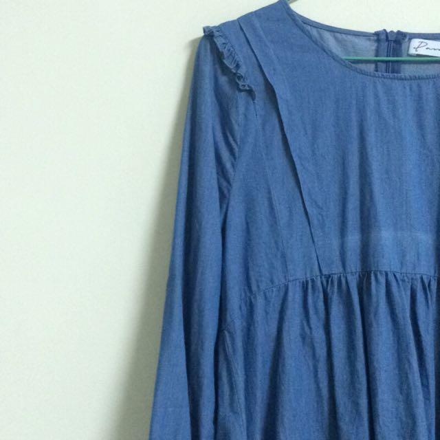 ✨出清✨(含運)牛仔藍洋裝