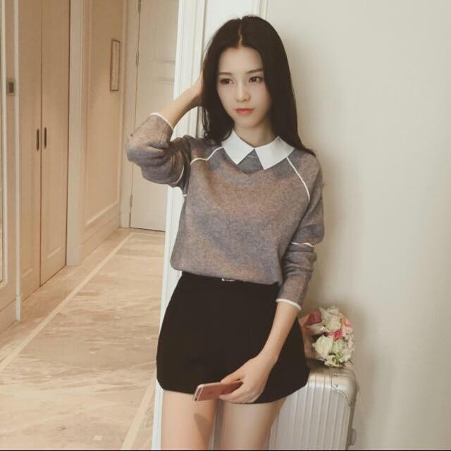針織甜美襯衫😘😘