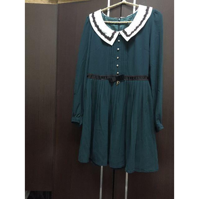 日本製 高質感 綠色小洋裝全新