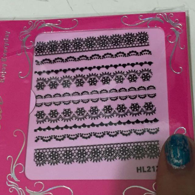全新 美甲貼紙 蕾絲貼紙 指甲彩繪 法式指甲