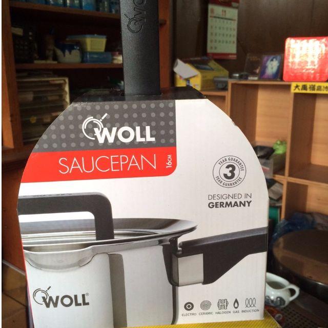 全新未拆 德國 WOLL 16CM 單柄鍋 附蓋 304不鏽鋼