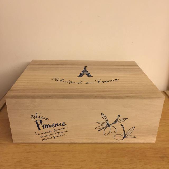 全新 Afternoon Tea 我巴黎鄉村風木質收納盒,長寬高25*20*9.5