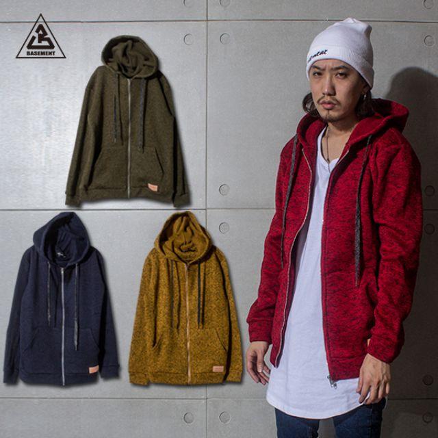 (地下室BASEMENT)。BT 多色 特殊棉質 連帽 帽拉 外套 (現+預) X0080