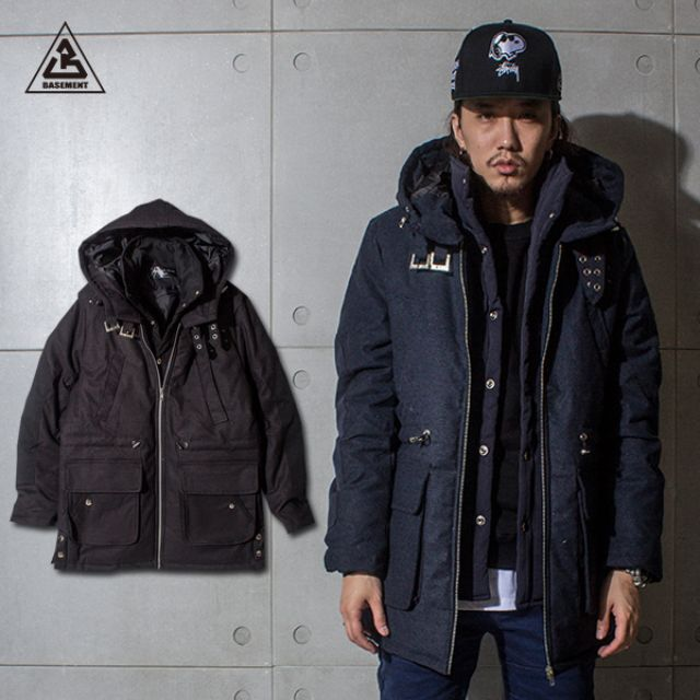 (地下室BASEMENT)。BT 加厚鋪棉 無敵防寒 瘋八 兩件式造型 外套(現+預) SH0040
