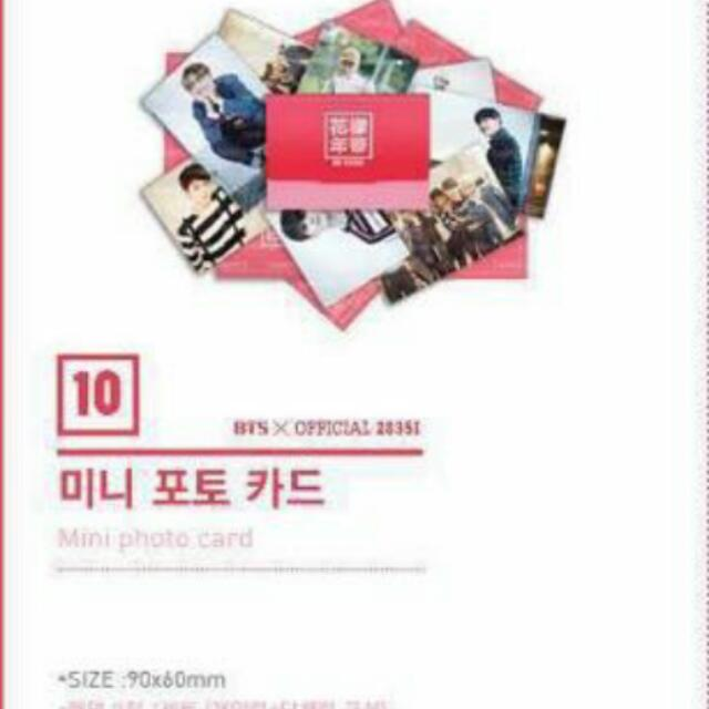 bts  hyyh pt 2 on stage goods mini photocard  photosets 1451448712 30cd98c7