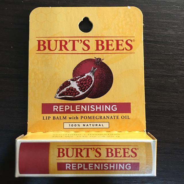 (全新)🎉降價🎉Burt's Bees 石榴滋潤保濕護唇膏