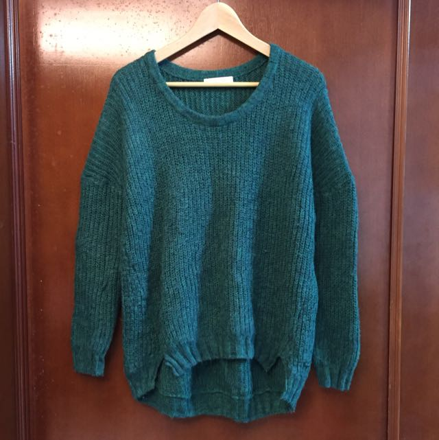 LOWRYS FARM森林綠色針織毛線毛衣