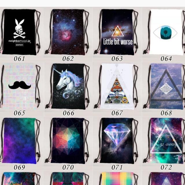 df32db87a5 PO  🎒Harajuku Galaxy Drawstring Pouch   Bag