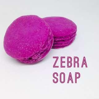 「斑斑皂」馬卡龍手工皂-桃紫春天色