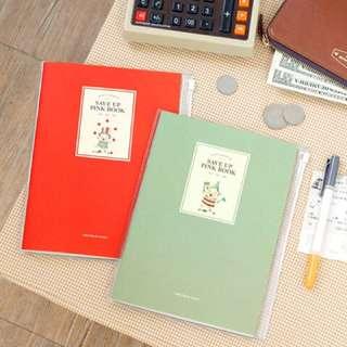 BNIP Iconic Design Save Up Pink Book Slim Cashbook