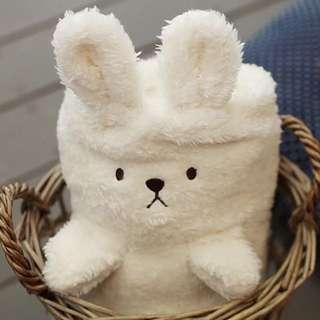 正韓 白色毛毯 全新品 長86*寛36(cm)
