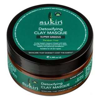 Sukin Super Greens Detoxifying Clay Mask 50ml