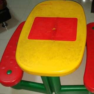Study Dinner Picnic Table For Kids