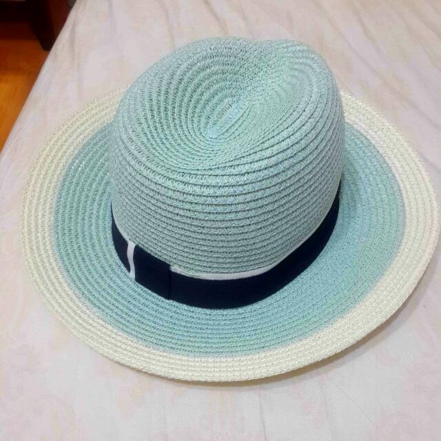 粉綠色草帽