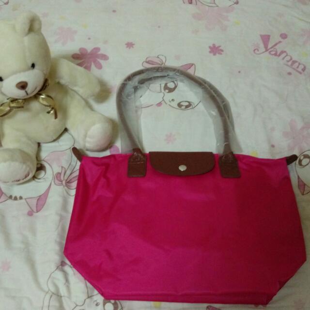 全新 粉色 側背 包