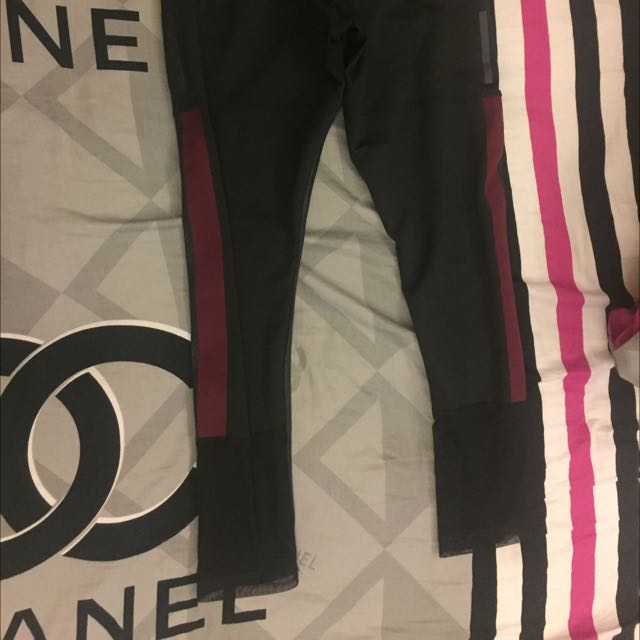 Adidas 皮革透氣運動褲  「二手」