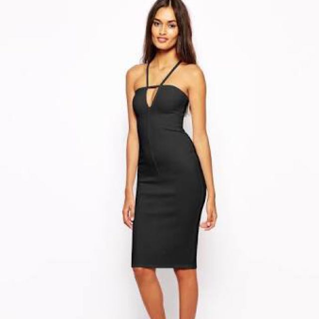 Asos Oh My Love Dress W Plunge Neck Rrp$50