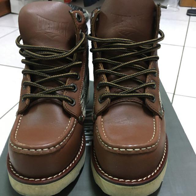 Everlast格子高統靴