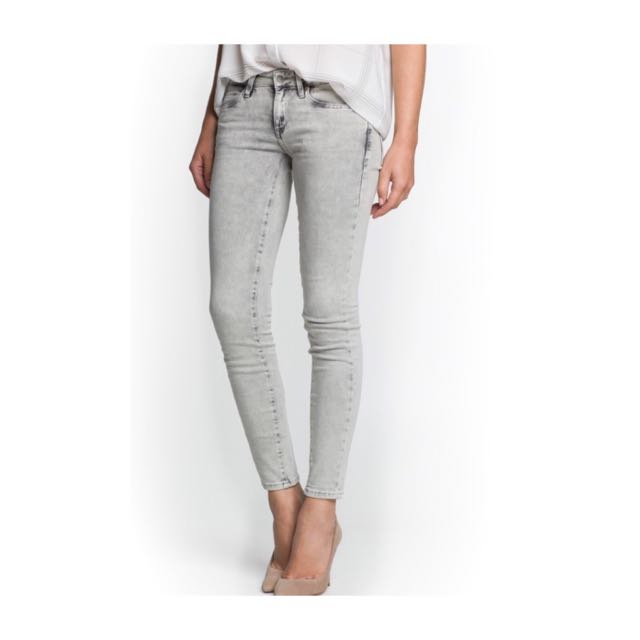 Mango Elektra Super Slim Jeans (in Grey)