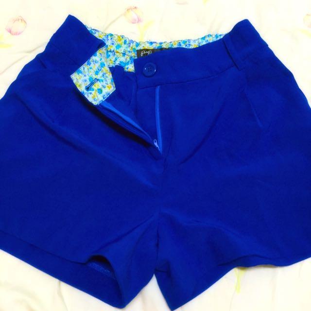 Pazzo深藍碎花💐雪紡短褲