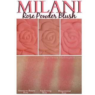 INSTOCK! MILANI LIMITED EDITION ROSE POWDER BLUSHES