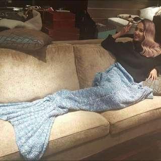 Jolin同款代購 CACOAN ❤️美人魚毯 美人魚沙發毯 毛毯 美人魚尾 大人升級版 加大 蔡依林 針織毯 針織毛毯 針織沙發毯