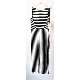 Brand New - Zara Woman Size S Striped Monochrome Dress