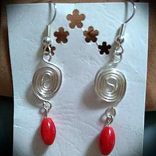 Red Beads Earrings
