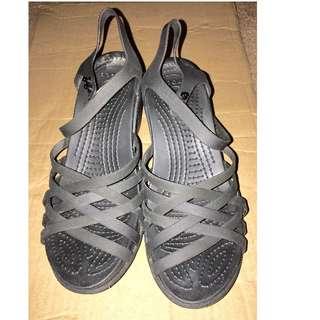 crocs Huarache saddle wedge