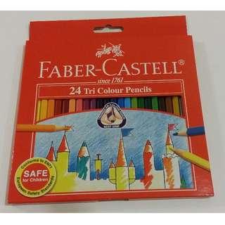[BNIB] Faber-Castell TRI-Grip Colour Pencils 24L
