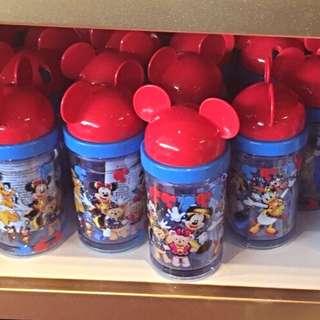 🇭🇰迪士尼 米奇 轉蓋吸管水壺