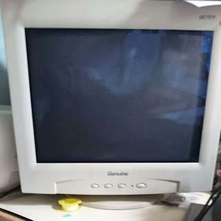15吋 Genuine GC757F CRT 平面直角螢幕 適合美工畫圖用(實際對角是16吋)
