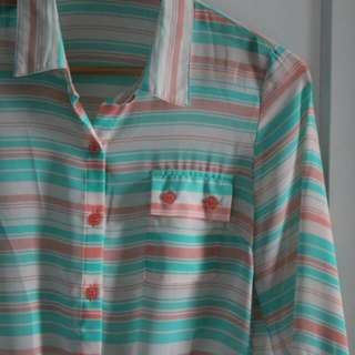 PRELOVED Colorful Lines Shirt